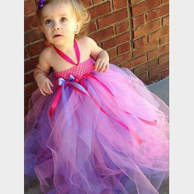 Pop Flower Girl Dress Sweet Kids Tutu Ball Gown Gorgeous Pageant Elegant Dress
