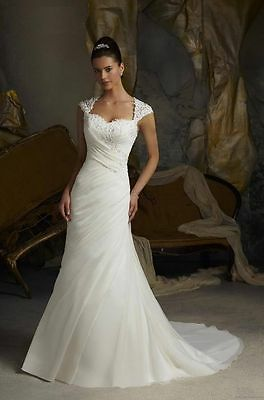 New Stock White/ivory Wedding dress Bridal Gown Stock size 6-8-10-12-14-16-18