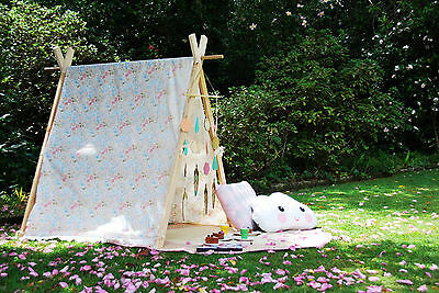 Handmade Kids Teepee Tent - Tea Party, Nursery Decor, Wooden clothing rack