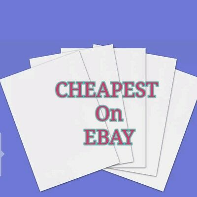 1 to 100 A4 SIZE 200GSM THICK WHITE CARDS / SHEETS - ART & CRAFT ( Matte finish)