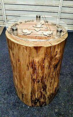 Beautiful Round Hand Crafted Tree Trunk Coffee Tables.. All made To Order!
