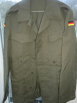 Unissued    Old style  German army field jacket olive green Moleskin -Small-