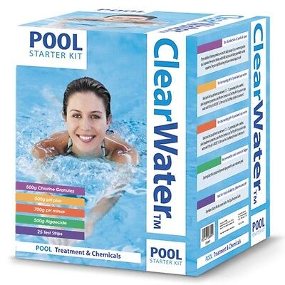 Clearwater Pool Treatment and Maintenance Chemicals Kit - White, 500g