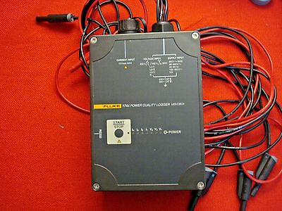 Fluke 1744 Power Quality Logger Memobox Measuring Function A Without Probes
