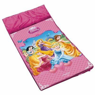 Disney Princess Sleeping Bag Kids Camping Girls Sleepover Pink Cinderella Belle