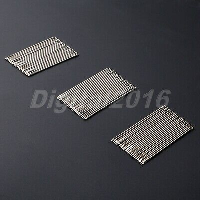 25/75PCS Hand Needles Leather Sewing Stitching For Crafts DIY Stainless Steel