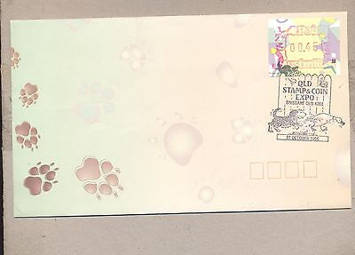 Australia 1996 FDC cover.ATM stamps with cancel Domestus Animals.See scan.