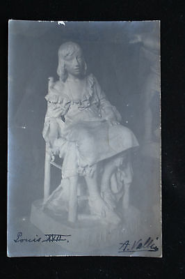 Auguste Vallin 1881-1967 Louis Xvii French Sculptor Signed Art Postcard Italy