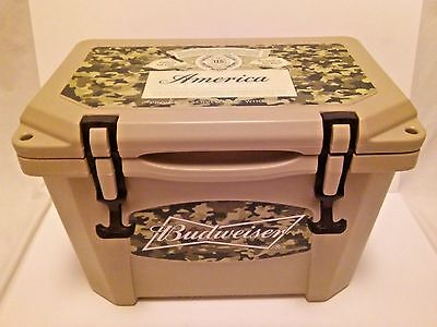 Budweiser Beer Sign/Grizzly 16 Qt.Cooler..New in Box..Made in USA