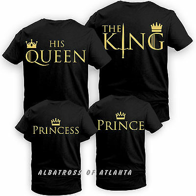 King Queen His Queen Her King Couple Matching Game of Thrones Romantic T shirt