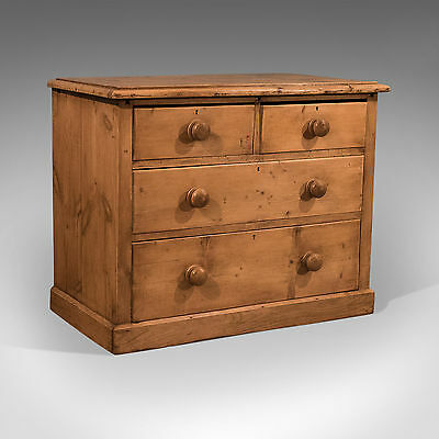 Antique Pine Chest of Drawers - Quality English Victorian Country Storage c1900