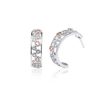 BRAND NEW Clogau Gold Silver & Rose Gold Celebration Creole Earrings £70 off!