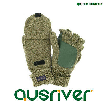 Superb Unisex Wool Warm Gloves Heated Half/Full Finger Knitted Mittens Gloves