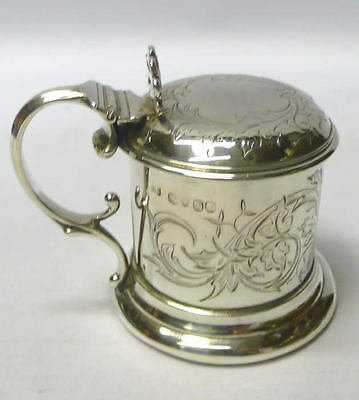 Antique Silver Mustard Pot 1849 Benjamin Smith stock id 7613
