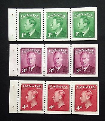CANADA STAMPS 1949 BOOKLET PANES SG422ba-3a-3ba m.n.h.