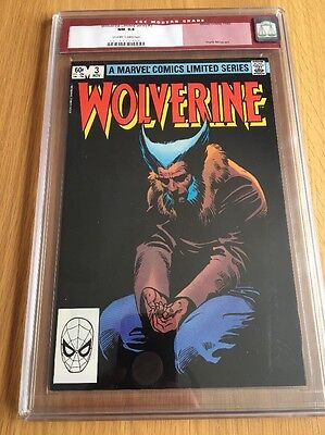 Wolverine Limited Series #3 CGC RARE RED lABEL  NM 9.4 Off White To White