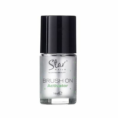 Star Nails Brush On Activator 14ml Odour Free Easy To Use Professional Kit