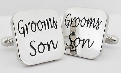 Wholesale Job Lot 50 Pairs Silver Square Groom Son Cufflinks wedding gift