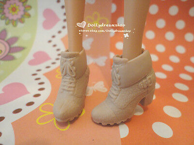 Doll Shoes - Blythe Stylish Khaki casual heel shoes 1pair#S2037 NEW
