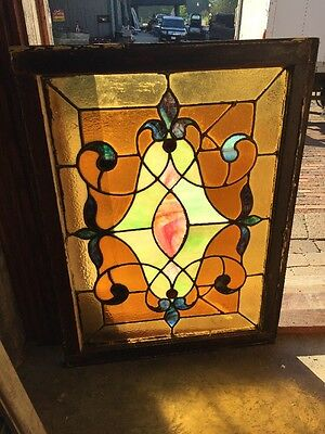 Sg 1449 Antique Stainglass Window To Read Jewels