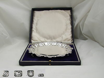 Rare George Iii Hm Sterling Silver 3 Footed Salver 1761