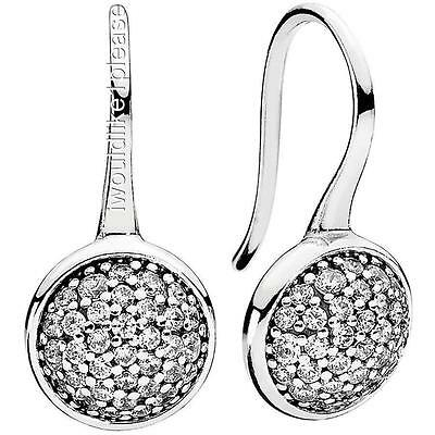 Pandora Silver Dazzling Droplets Earrings 290734Cz New Authentic