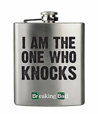 Official Breaking Bad 6oz Stainless Steel Hip Flask I Am the One Who Knocks