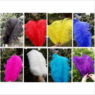 Wholesale 10-100pcs natural male ostrich feathers 30-35cm/12-14inch Large fluff