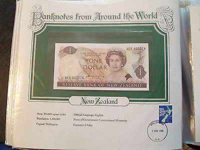 World Banknotes New Zealand 1 Dollar 1981-1985 UNC P169a Hardie Prefix AFR