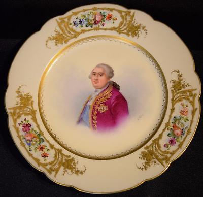 18thc~Rare Antique French Sevres Porcelain Plate~c1779~Louis XVI~Pierre Antoine~