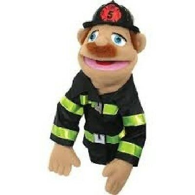Melissa and Doug - Firefighter Puppet, Plush, Hand and Rod Puppets