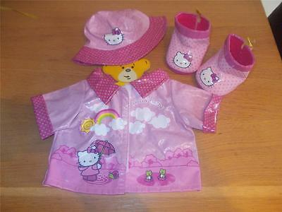 Build A Bear Factory Fab Hello Kitty 3Pc Rain Set Incl Wellies Uk Exclusive
