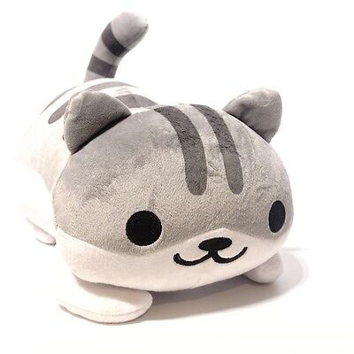 New Game Neko Atsume ねこあつめ Kitty Collector Plush Toy Stuffed Doll Gray small