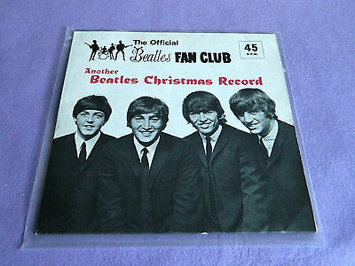 The Beatles Christmas Record Flexi Disc Fan Club 1964 EX