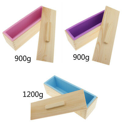 Rectangle Soap Mold Silicone Craft DIY Making Homemade Cake Mould 900/1200ml