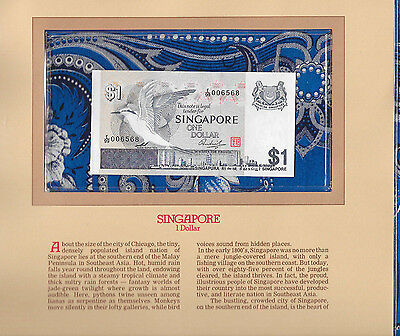 Most Treasured Banknotes Singapore 1 dollar 1976 P 9 GEM UNC Prefix E/99 006568