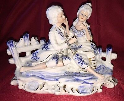Porcelain Figurine of Courting Couple by KPM, Excellent Condition