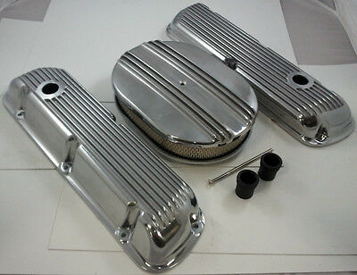 SB Ford Finned Polished  Aluminum Engine Dress Up Kit  260 289 302 351W 1962-Up