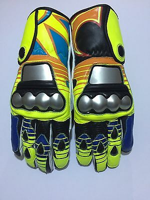Rossi Racing Motorbike Gloves VR|46 Motorbike Leather Gloves