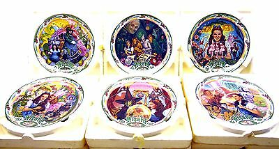 Wizard of Oz Music Box Plates (6) Collection Bradford Exchange Vintage Pre-Loved