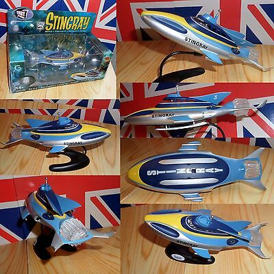 RARE Gerry Anderson STINGRAY die-cast 10 inch model STUNNING Troy Tempest L@@K