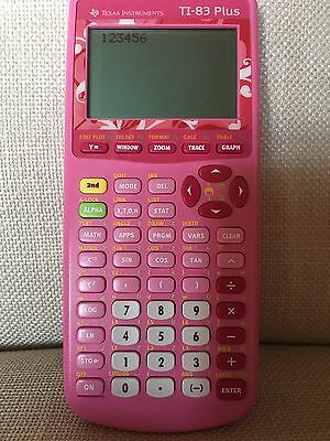 Texas Instruments TI-83 Plus Graphic Calculator limited edition pink