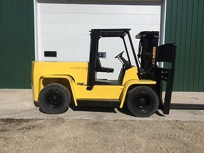 1997 Hyster H155XL Forklift Lift Truck Pneumatic Tires 15500# Capacity