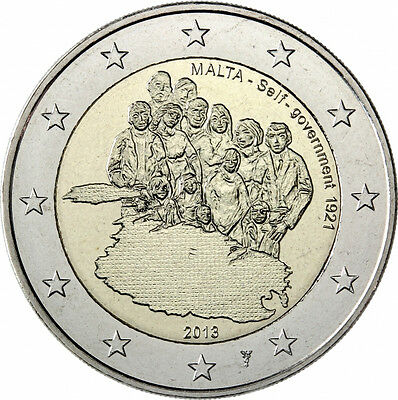 "2 euro Malte 2013 ""Self Gouvernement"""
