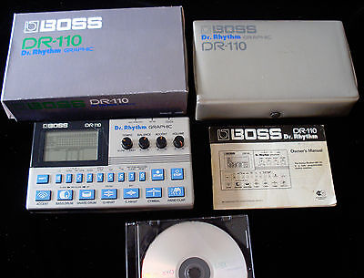 Boss DR-110 Dr. Rhythm w/ replica box- Manuals- programmable Analog drum machine