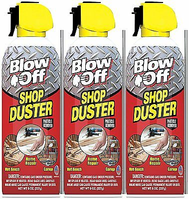 Max Professional BlowOff Shop Duster - Compressed Air Duster 3-Pack