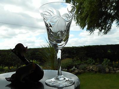 """Royal Brierley Crystal  FUCHSIA  6 7/8"""" LARGE WINE  glass OR glasses ( 1ST )"""