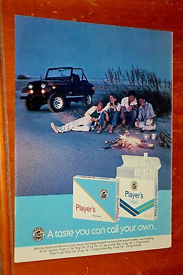 Jeep Cj & Friends For 1981 Players Cigarettes Canadian Ad - Retro 80S Vintage