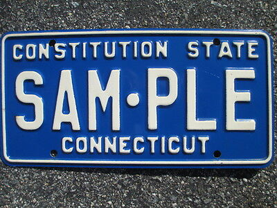 1980s/1990s Connecticut Sample License Plate