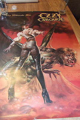 Ozzy Osbourne Ultimate Sin Official Poster 1985 Monowise Rock Express